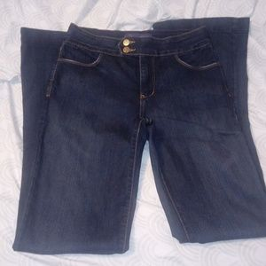 NYDJ Jeans Flair Dark Wash Size 4 Flawed